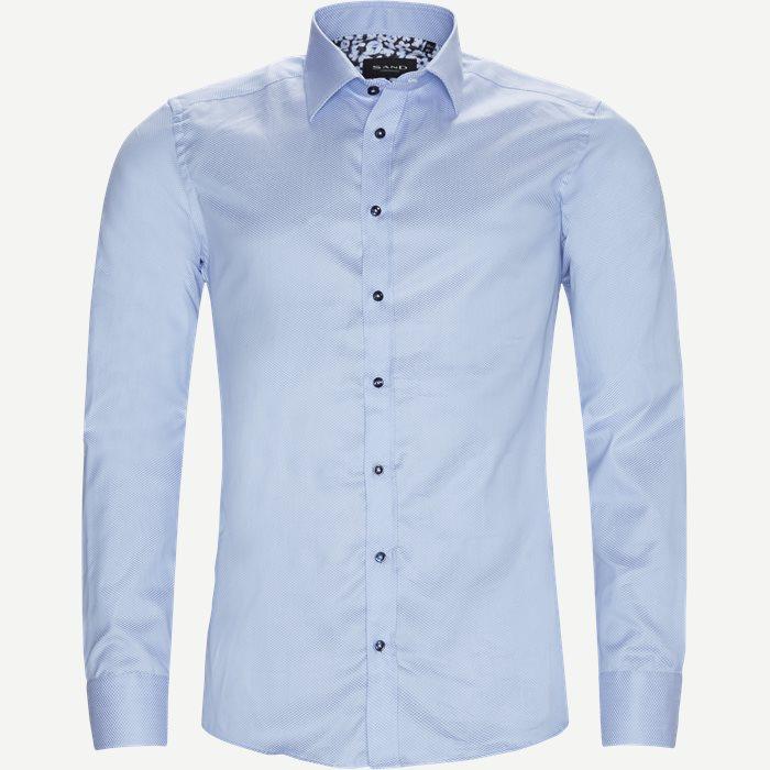 8534 Iver N Trim/State N Trim Skjorte - Skjorter - Blå