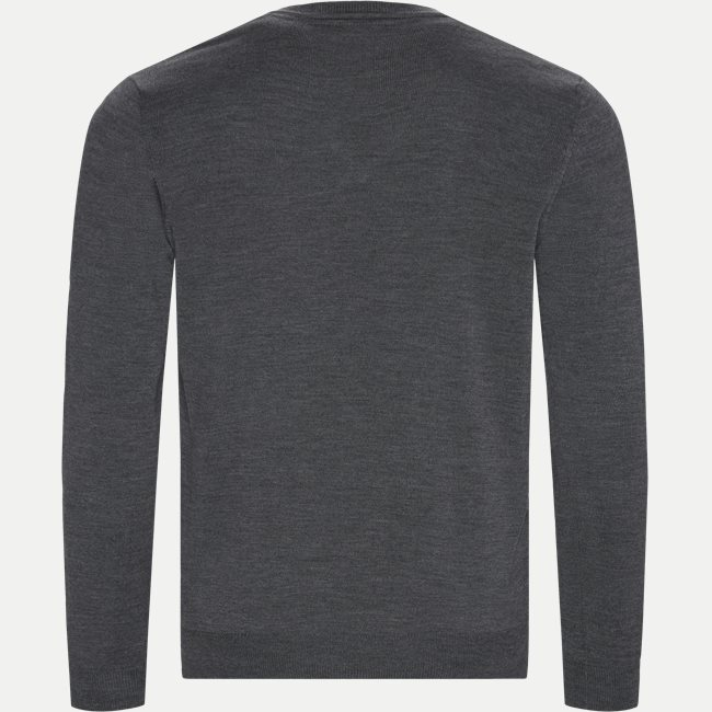 Merino Emb. Dustin V-neck Strik