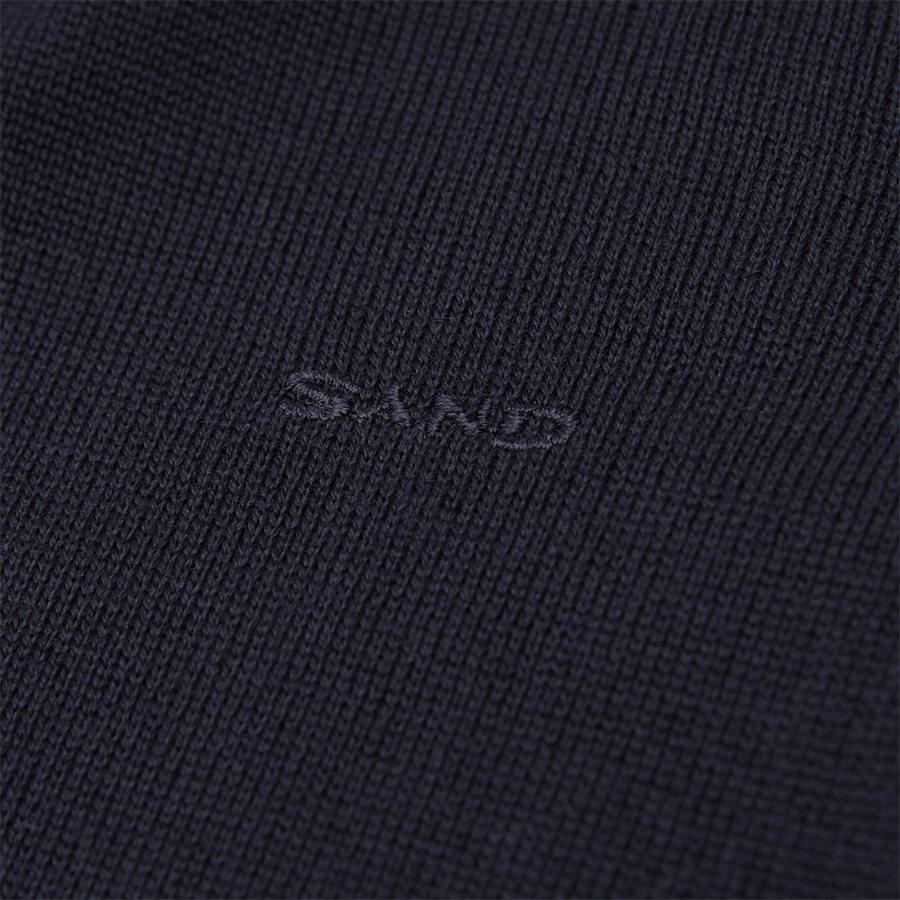 MERINO EMBR. IBRO - Merino Embr. Ibro Half-Zip Striktrøje - Strik - Regular - NAVY - 5
