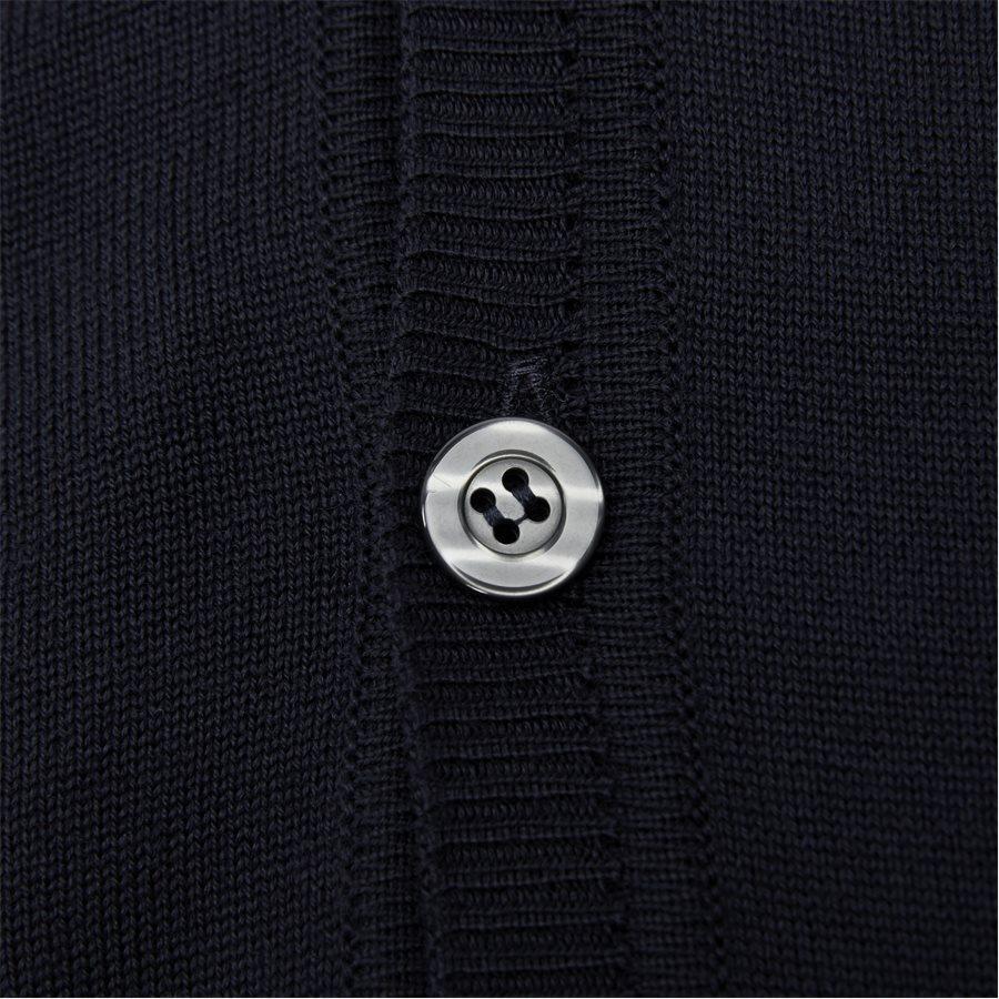 MERINO EMBR. ICE - Merino Embr. Ice Cardigan - Strik - Regular - NAVY - 6