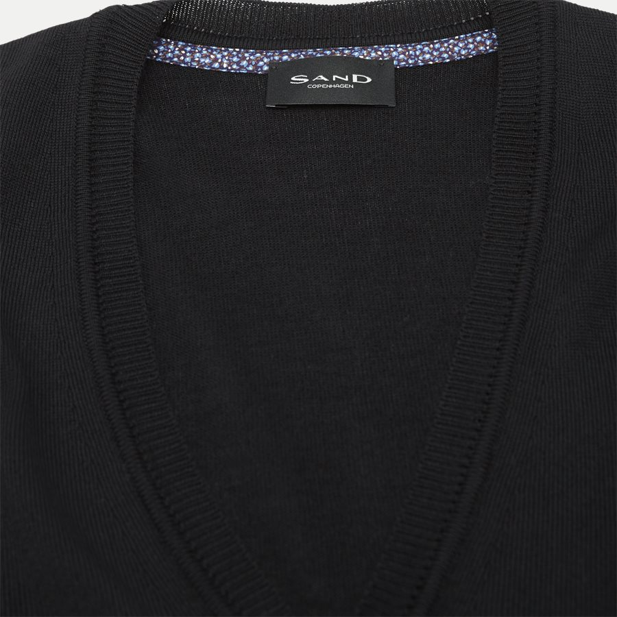 MERINO EMBR. ICE - Merino Embr. Ice Cardigan - Strik - Regular - SORT - 5