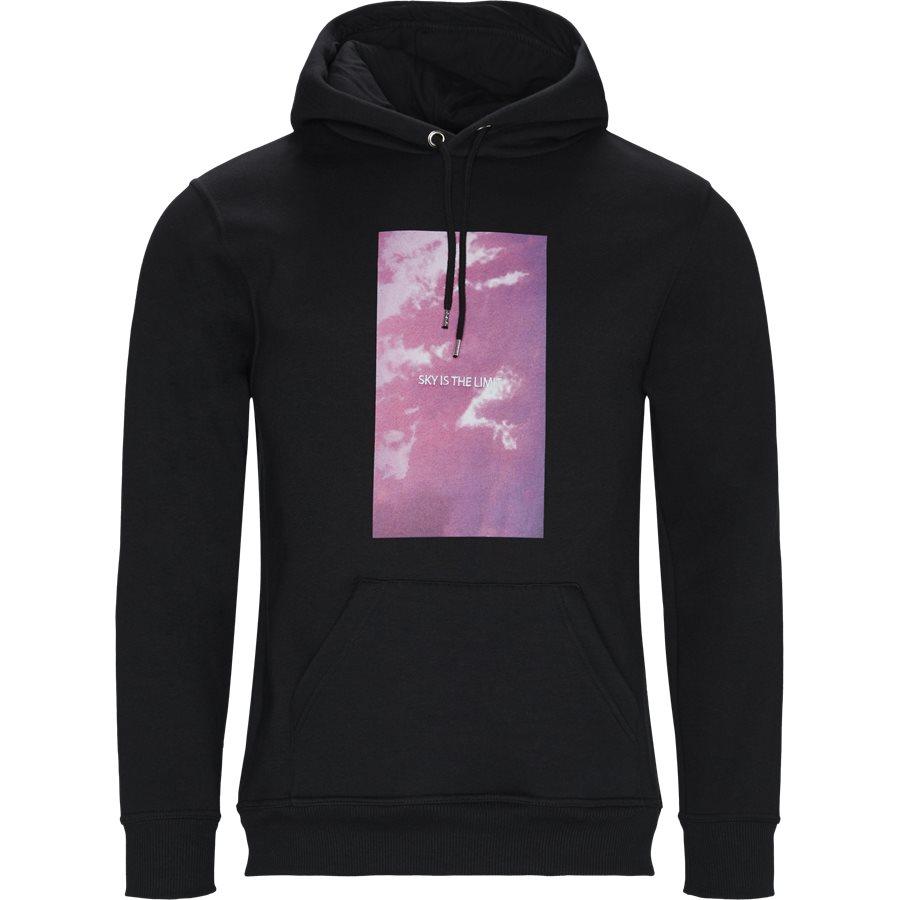 POLK - Polk Hoodie - Sweatshirts - Regular - BLACK - 1