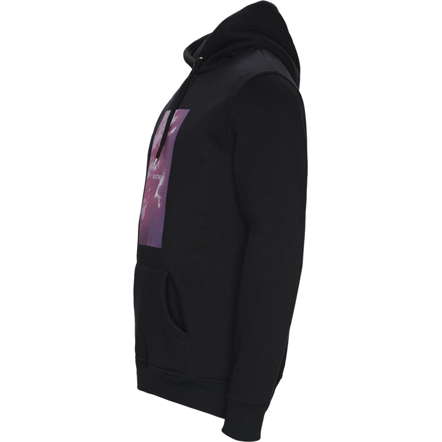 POLK - Polk Hoodie - Sweatshirts - Regular - BLACK - 3