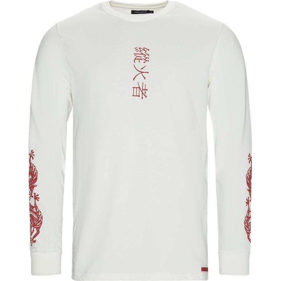 MADISON - Madison LS Tee - T-shirts - Regular - ECRU - 1