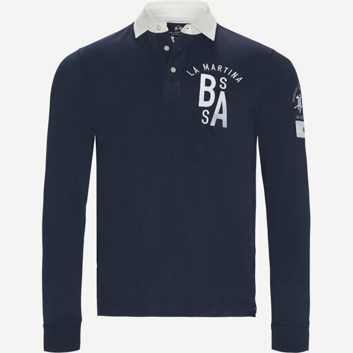 Rugby Jersey Polo LS - T-shirts - Regular - Blå