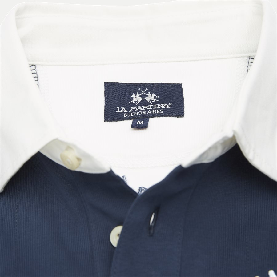 OMP623 JS210 - Rugby Jersey Polo LS - T-shirts - Regular - NAVY - 6