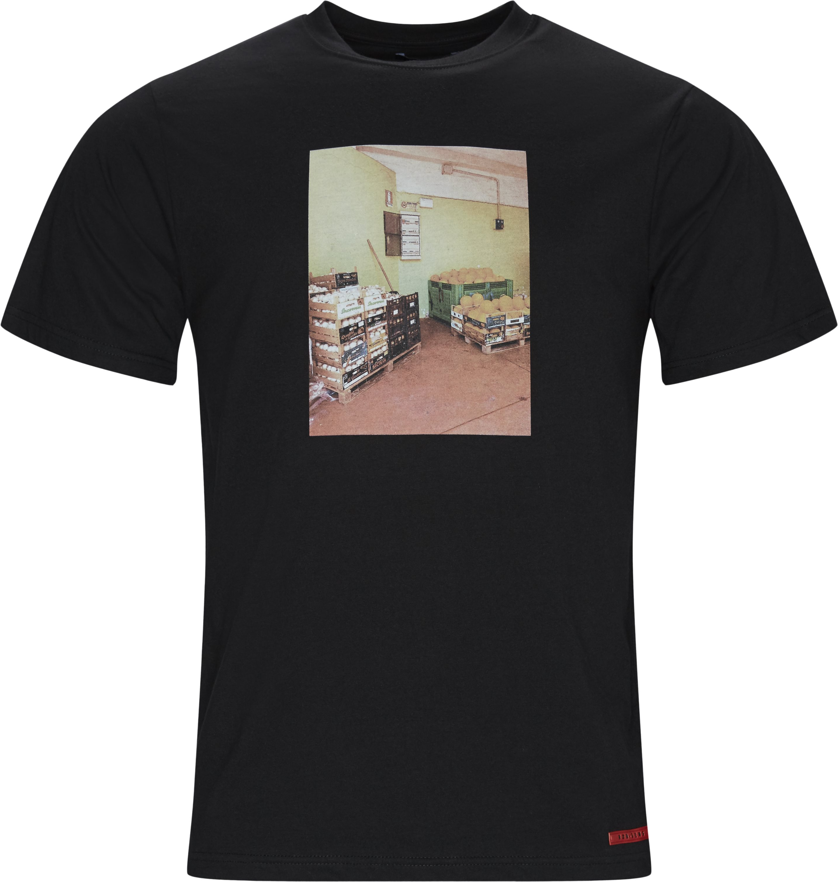 Crater Tee - T-shirts - Regular fit - Sort