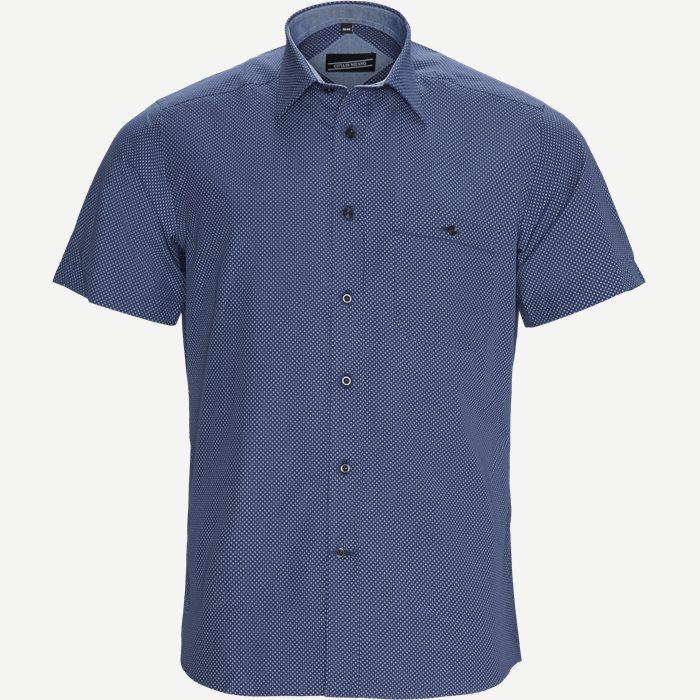 Iago Kortærmet Skjorte - Kortærmede skjorter - Regular - Blå