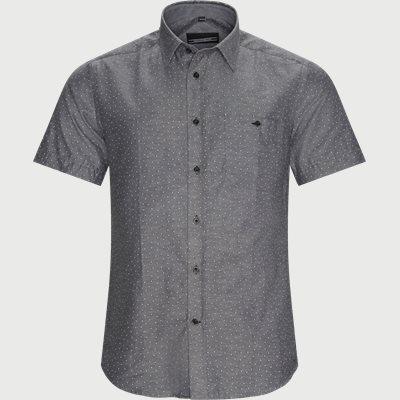 Regular | Kurzärmlige Hemden | Schwarz