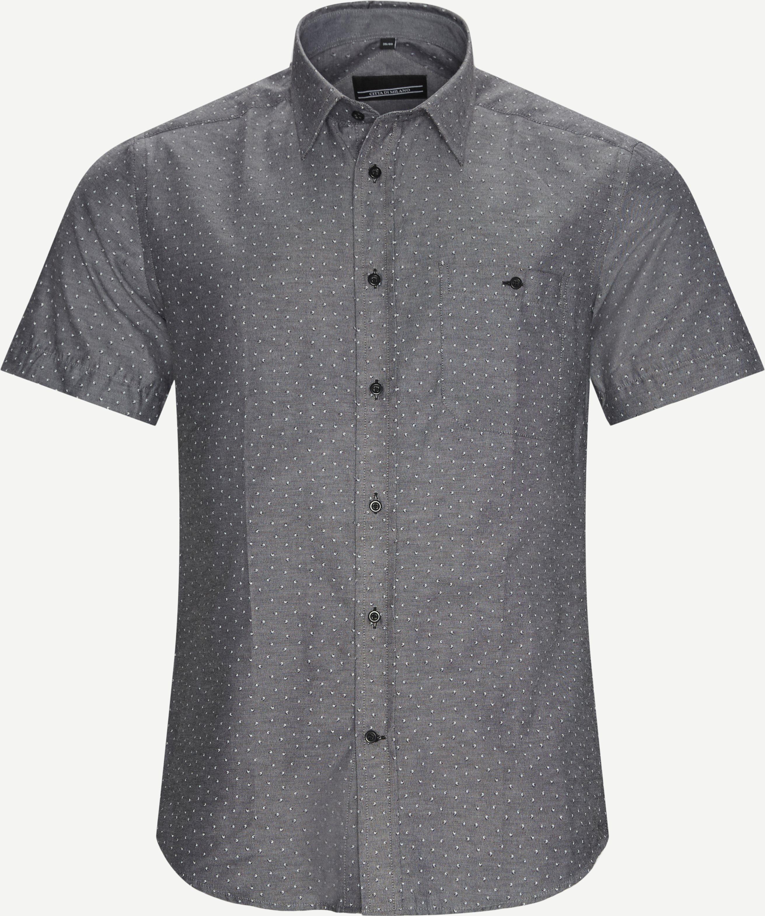 Kurzärmlige Hemden - Regular - Schwarz