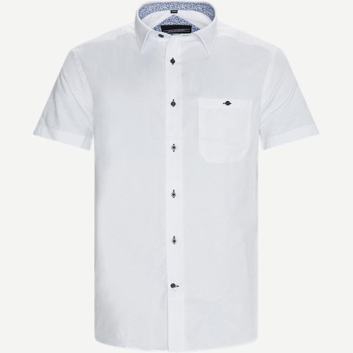 Kortärmade skjortor - Regular - Vit