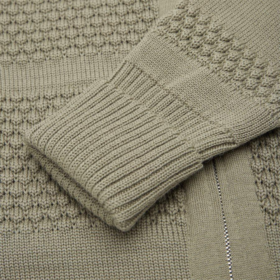FISHERMAN FULL ZIP - Knitwear - Regular fit - KHAKI - 4