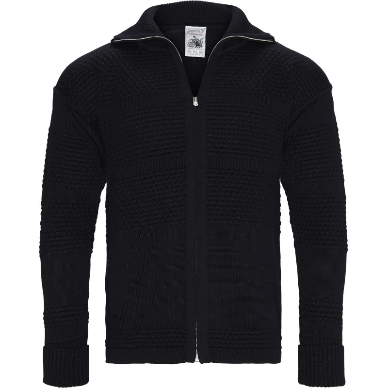 Billede af SNS Regular fit FISHERMAN FULL ZIP Strik Navy