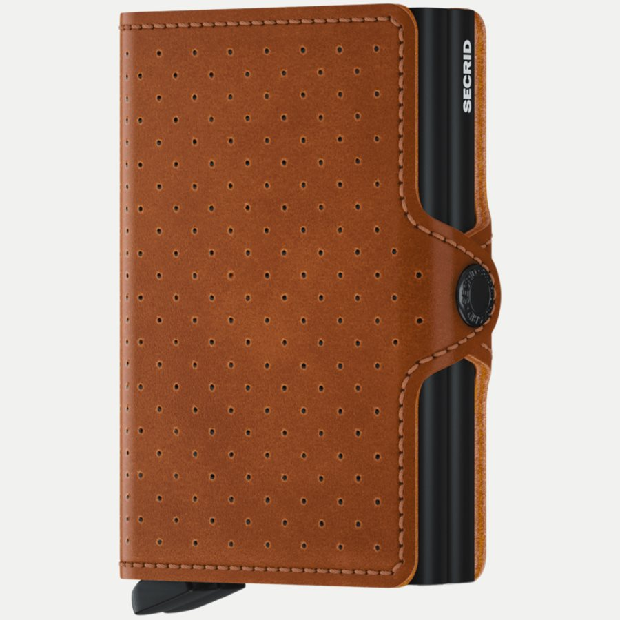 TPF PERFORATED - TPF Twinwallet - Accessories - COGNAC - 1