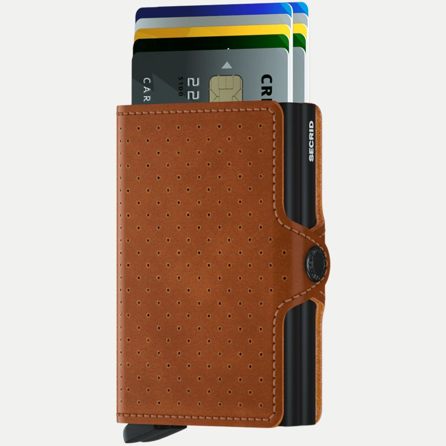 TPF PERFORATED - TPF Twinwallet - Accessories - COGNAC - 2
