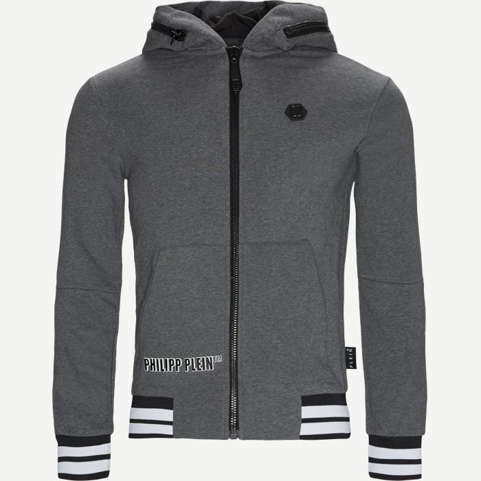 Hoodie Sweatjacket - Sweatshirts - Regular - Grå