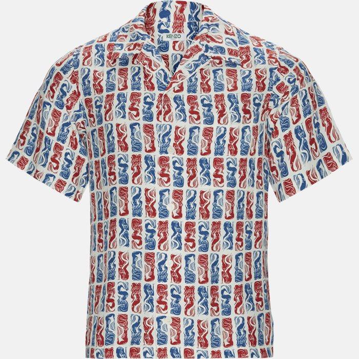 Kortærmede skjorter - Regular fit - Rød
