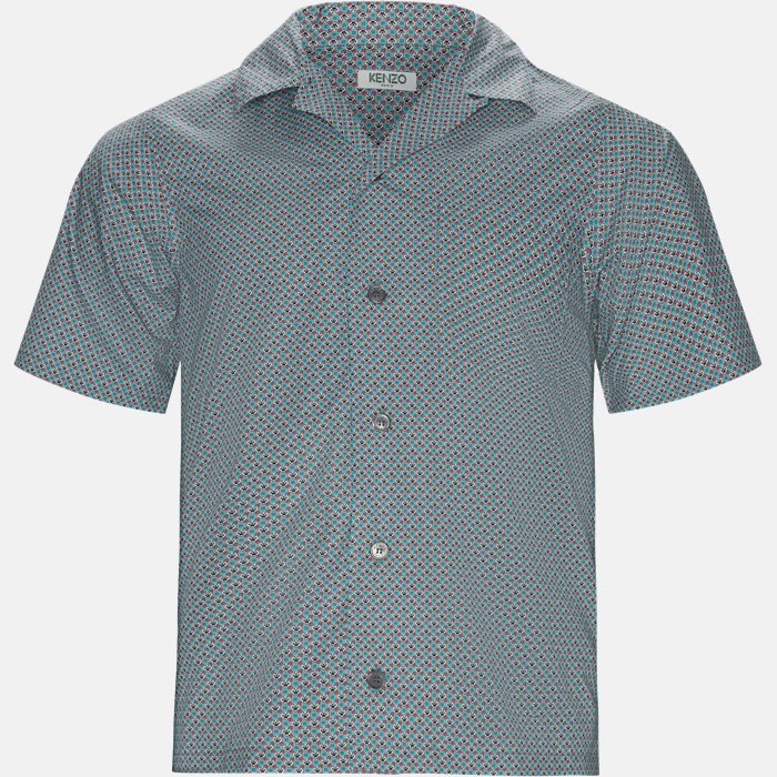 Short-sleeved shirts - Regular fit - Turquoise