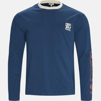 Regular fit | Langærmede t-shirts | Blå