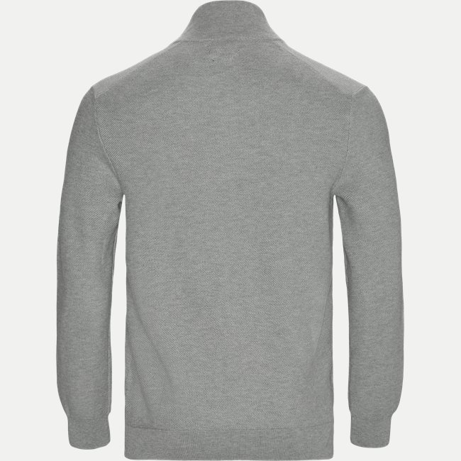 Cotton Half-Zip Striktrøje