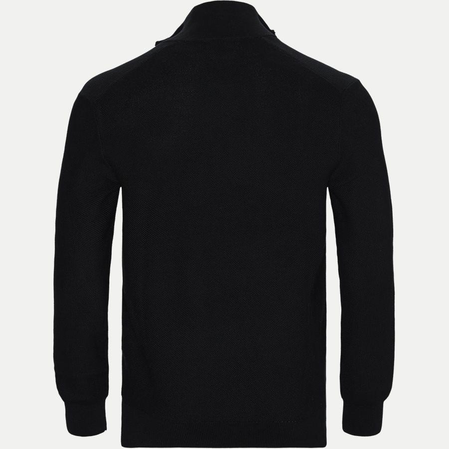 710701611 - Cotton Half-Zip Striktrøje - Strik - Regular - SORT - 2