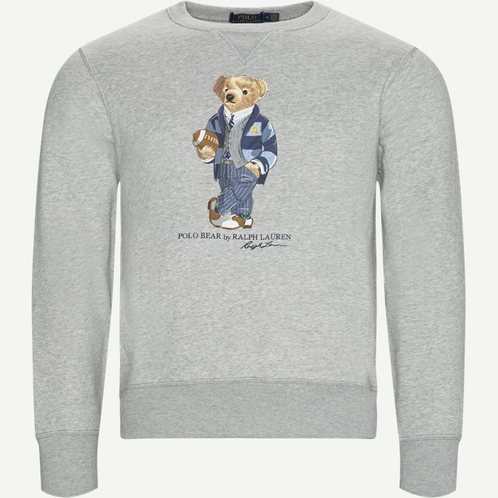 Football Bear Fleece Sweatshirt - Sweatshirts - Regular - Grå