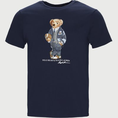 Custom Slim Fit Bear T-shirt Regular slim fit | Custom Slim Fit Bear T-shirt | Blå
