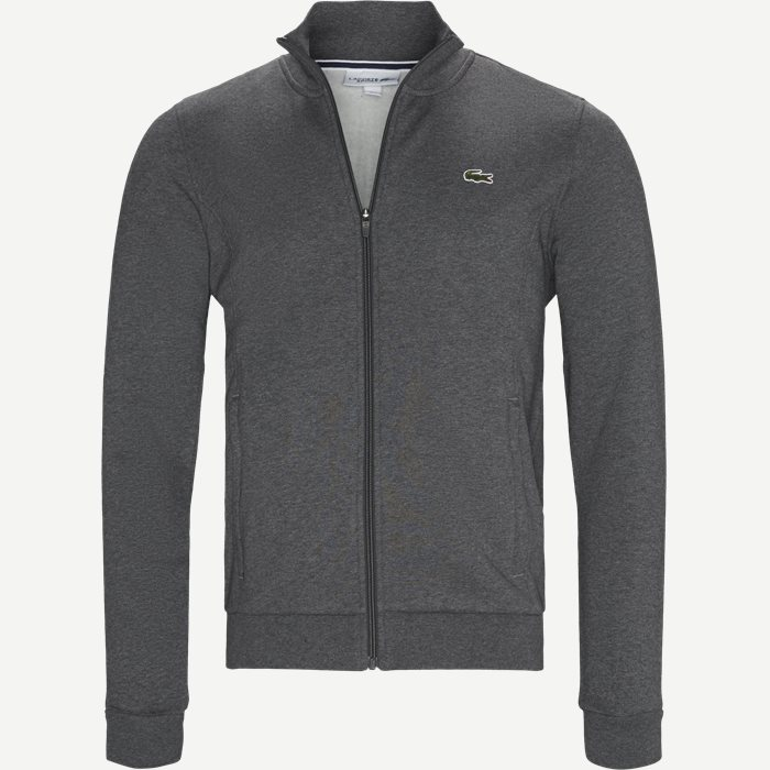 Zip Up Fleece Sweatshirt - Sweatshirts - Regular - Grå