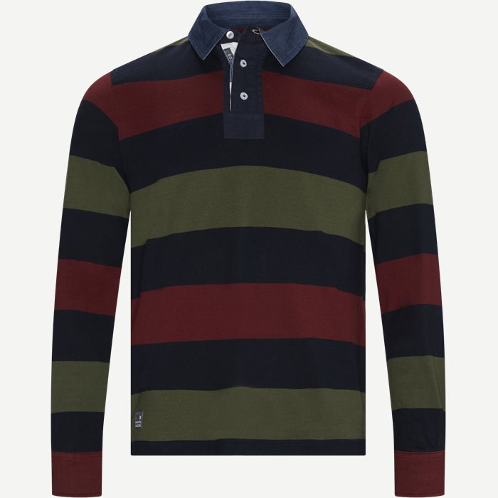 Striped Rugger Polo T-shirt - T-shirts - Regular - Blå