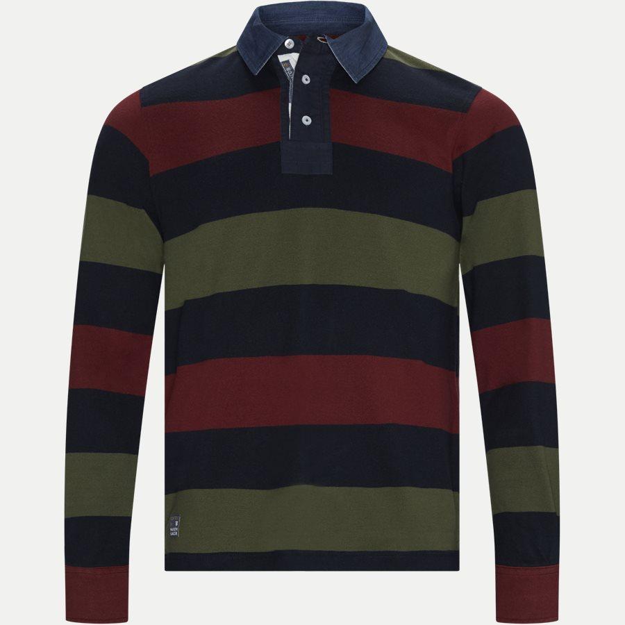 05069 STRIPED RUGGER - Striped Rugger Polo T-shirt - T-shirts - Regular - NAVY - 1
