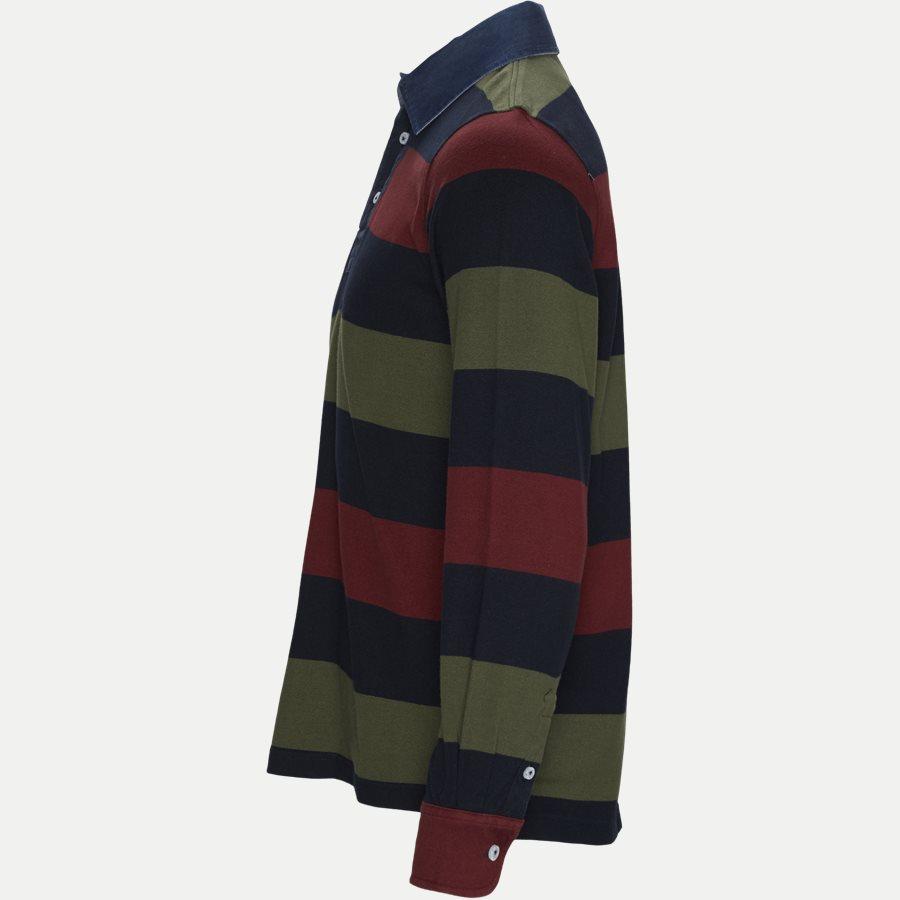 05069 STRIPED RUGGER - Striped Rugger Polo T-shirt - T-shirts - Regular - NAVY - 3