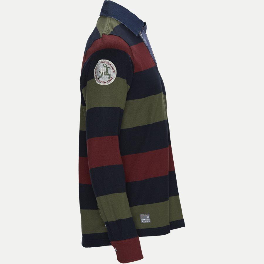 05069 STRIPED RUGGER - Striped Rugger Polo T-shirt - T-shirts - Regular - NAVY - 4