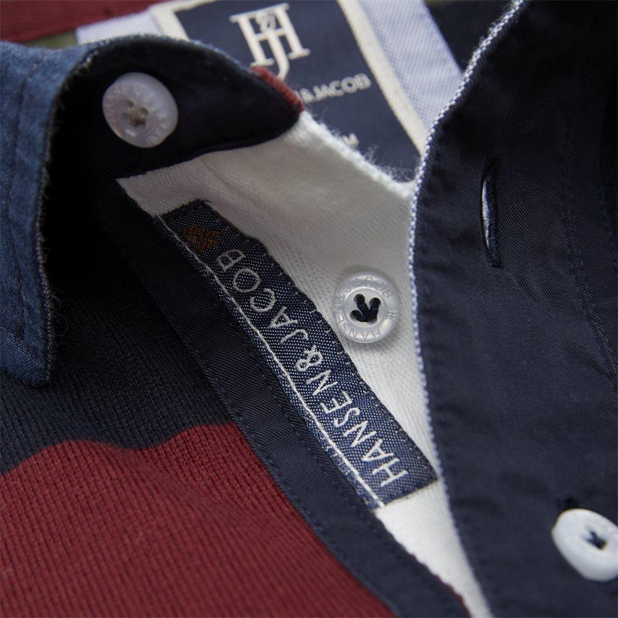 05069 STRIPED RUGGER - Striped Rugger Polo T-shirt - T-shirts - Regular - NAVY - 6