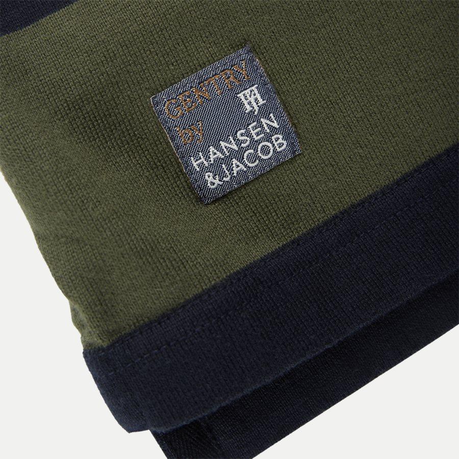 05069 STRIPED RUGGER - Striped Rugger Polo T-shirt - T-shirts - Regular - NAVY - 7