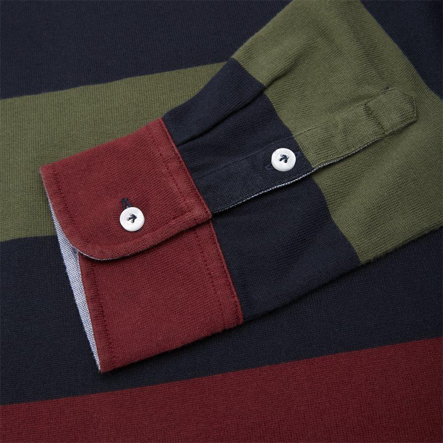 05069 STRIPED RUGGER - Striped Rugger Polo T-shirt - T-shirts - Regular - NAVY - 8