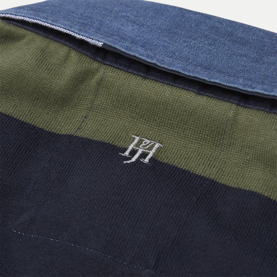 05069 STRIPED RUGGER - Striped Rugger Polo T-shirt - T-shirts - Regular - NAVY - 9
