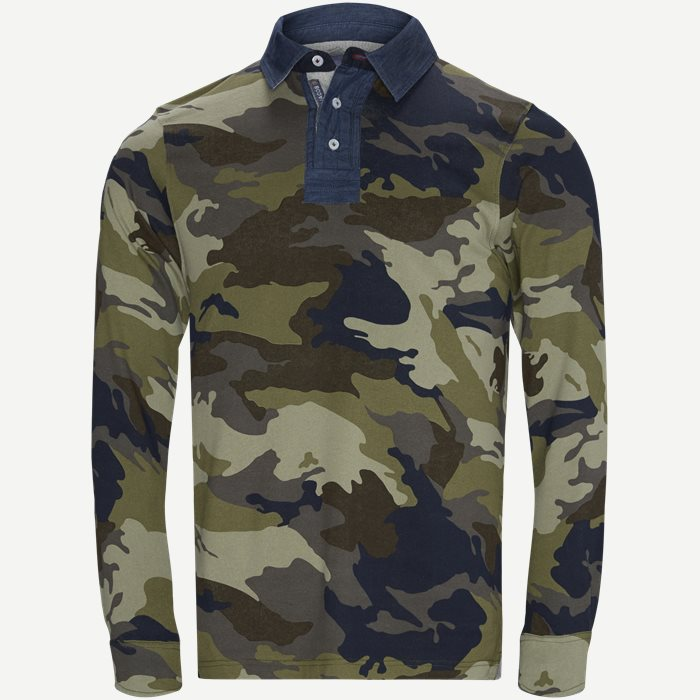 Camo Rugger Polo T-shirt - T-shirts - Regular - Army