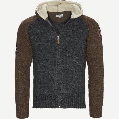 2Tone Knitted Hoodie Regular | 2Tone Knitted Hoodie | Grå