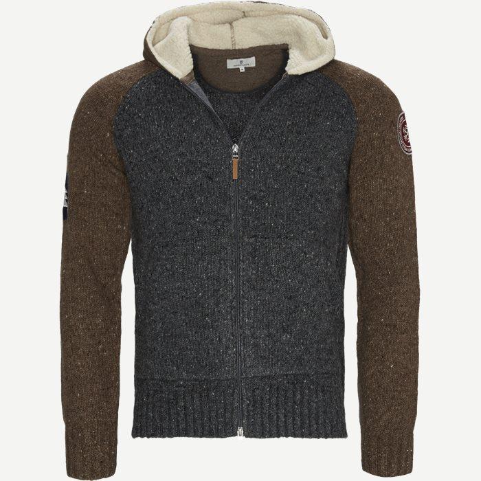 2Tone Knitted Hoodie - Strik - Regular - Grå