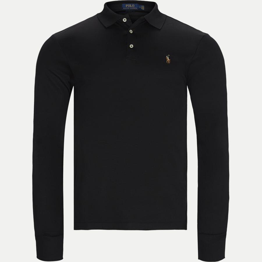 710743841 - Long Sleeve Polo T-shirt - T-shirts - Slim - SORT - 1