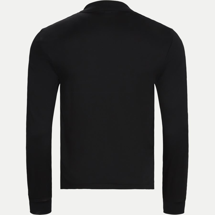 710743841 - Long Sleeve Polo T-shirt - T-shirts - Slim - SORT - 2