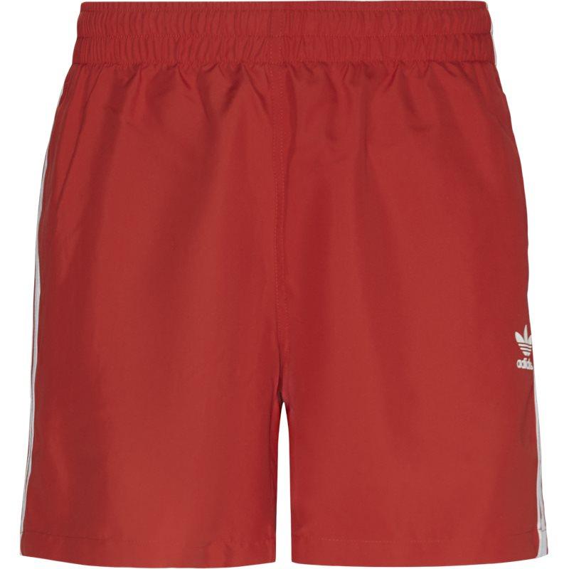 Billede af Adidas Originals 3 Stripe Swim Shorts Rød