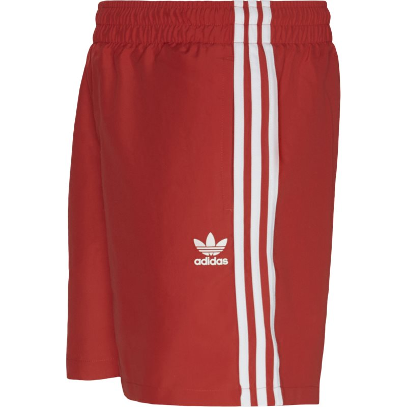 Image of   Adidas Originals 3 Stripe Swim Shorts Rød
