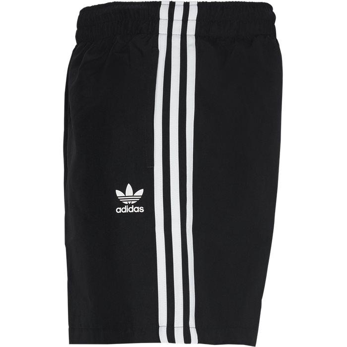 3 Stripe Swim Shorts - Shorts - Regular - Sort