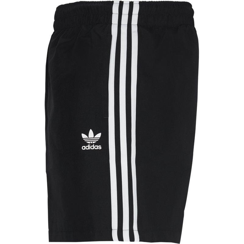 Image of   Adidas Originals 3 Stripe Swim Shorts Sort
