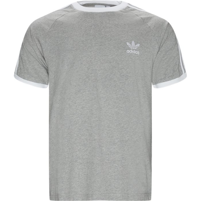 3 Stripe Tee - T-shirts - Regular - Grå