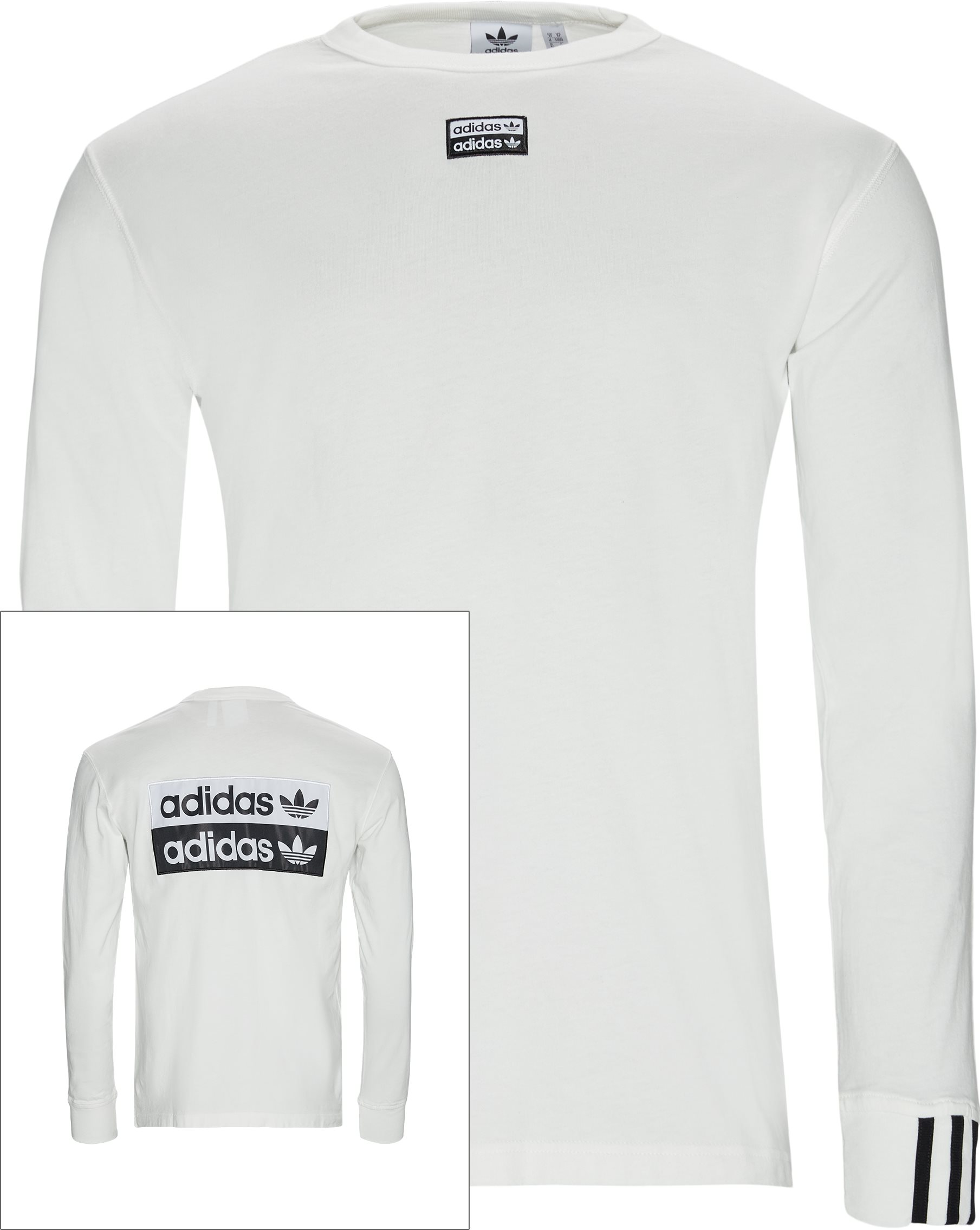 F LS Langærmet Tee - T-shirts - Regular - Hvid