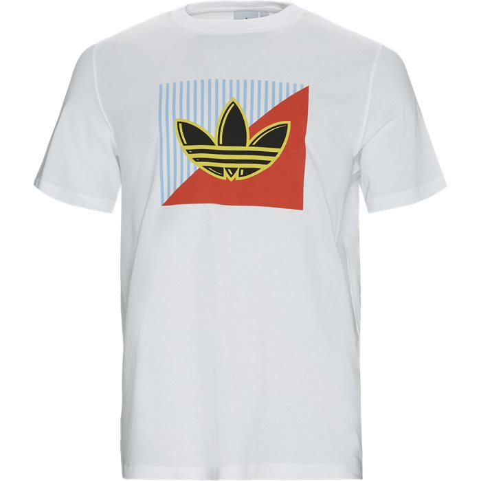 Diagonal Logo Tee - T-shirts - Regular - Hvid