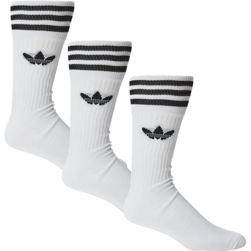 Image of Adidas Originals 3-pack Solid Crew Sock Hvid