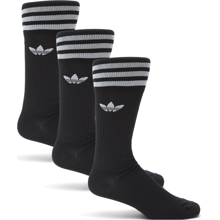 3-Pack Solid Crew Sock - Strømper - Sort